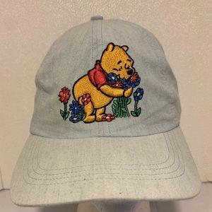 VTG Winnie The Pooh Flower StrapBack Hat Disney